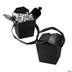 Black Glitter Take Out Boxes