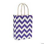 Purple Chevron Kraft Bags