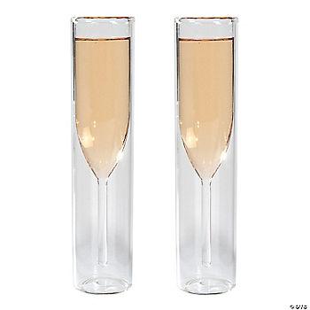 encased cylinder champagne flutes. Black Bedroom Furniture Sets. Home Design Ideas