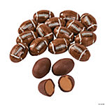 Peanut Butter-Filled Chocolate Footballs