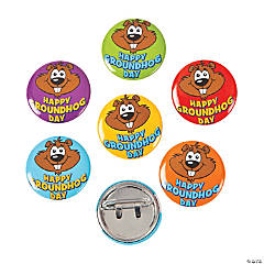 Happy Groundhog Day Mini Buttons