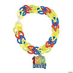 100th Day of School Fun Loop Bracelets
