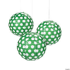 Green Polka Dot Paper Lanterns