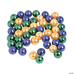 Mardi Gras Pearl Beads - 8mm