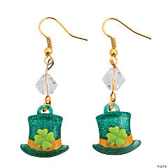 Leprechaun Top Hat Earrings Craft Kit