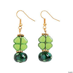 Glass Shamrock Lampwork Earrings Craft Kit