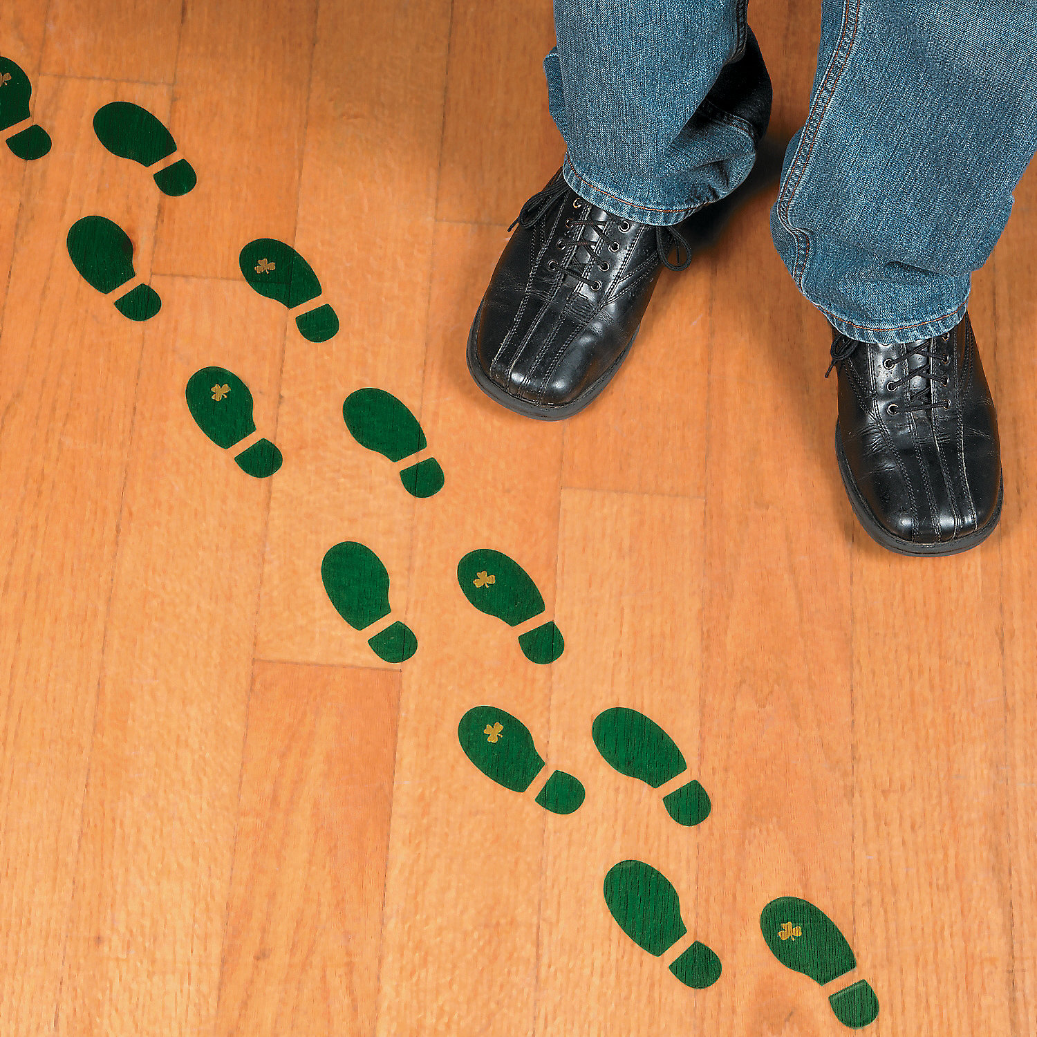 Leprechaun Footprint Floor Decals Floor Amp Window Clings