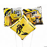 Construction Zone Mylar Balloons