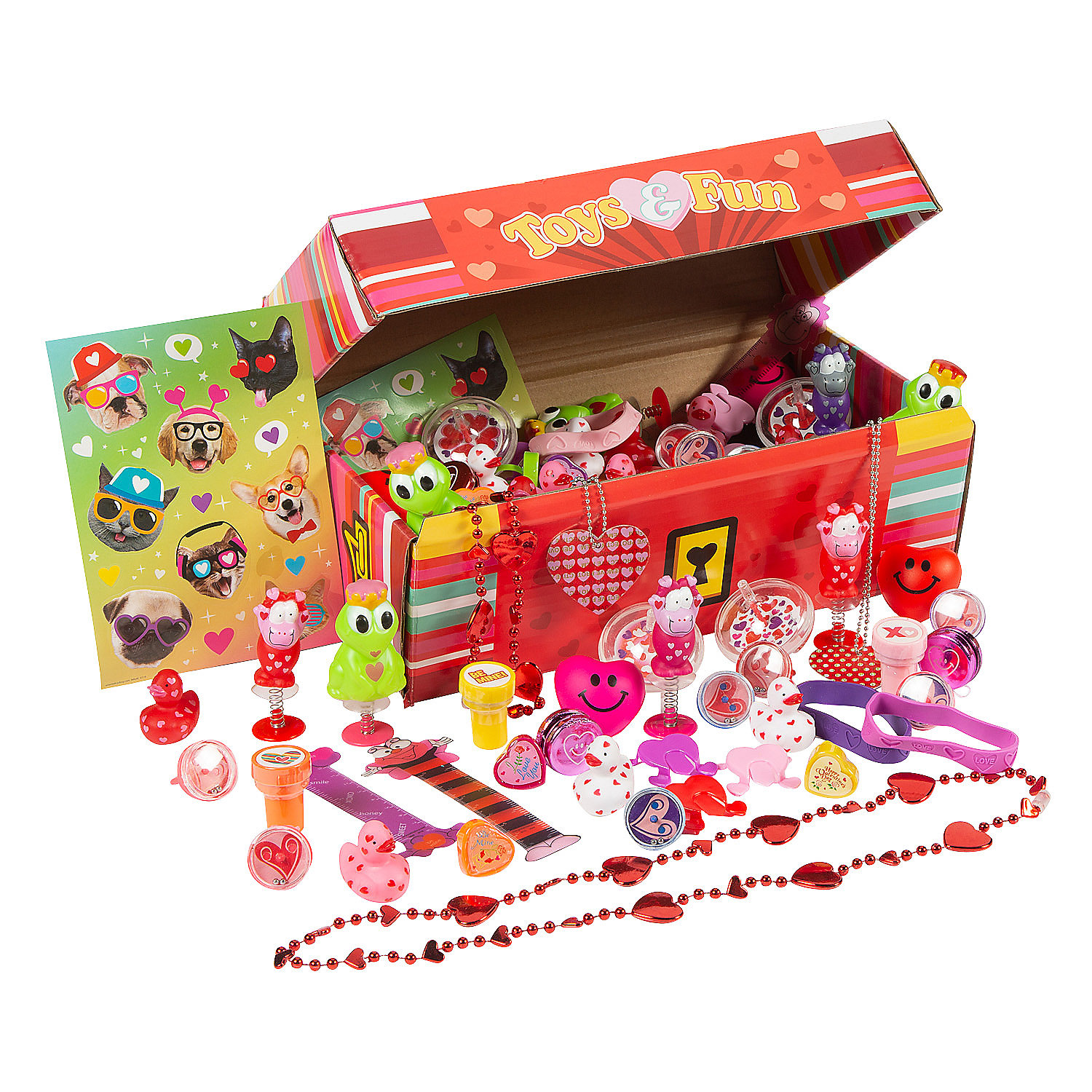 Valentine S Day Toy Prizes : Valentine treasure chest toy assortment oriental trading