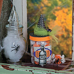 Witch Hat Jar Idea