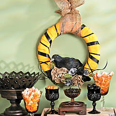 Black Crow Wreath Idea