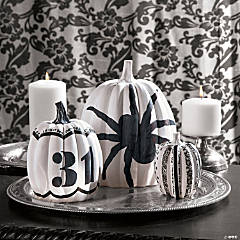 Black & White Pumpkins Idea