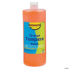 Orange Tempera Paints