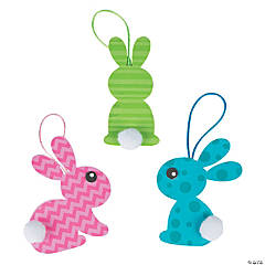 Pom-Pom Bunny Tail Ornament Craft Kit