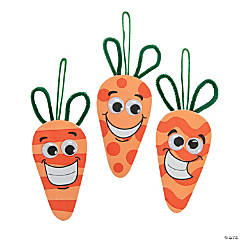 Silly Face Carrot Ornament Craft Kit