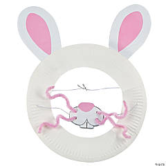 Paper Plate Easter Bunny Mask Craft Kit