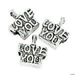 I Love You Large Hole Beads - 14mm