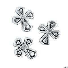 Cross Large Hole Beads - 10mm