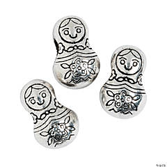 Russian Nesting Doll Large Hole Beads - 12mm