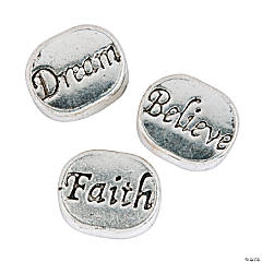 Dream, Believe & Faith Large Hole Beads - 10mm