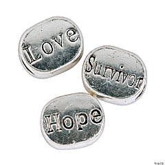 Hope, Love & Survivor Large Hole Beads