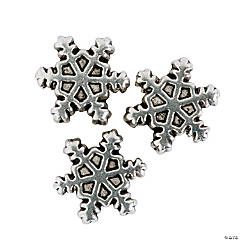 Snowflake Large Hole Beads - 14mm