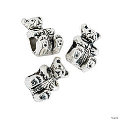 Bear Large Hole Beads - 13mm