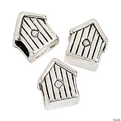 Birdhouse Large Hole Beads - 10mm