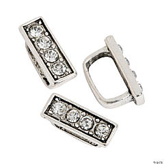 Small Rhinestone Border Slide Charms - 10mm