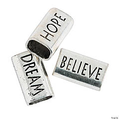 Large Dream Hope Believe Slide Charms