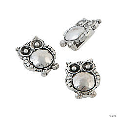 Metal Hoot Owl Small Slide Charms
