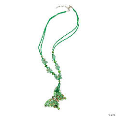 Green Butterfly Pendant Necklace Craft Kit