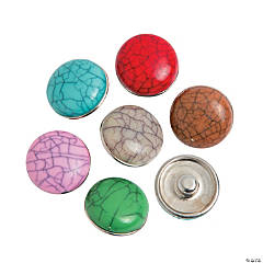 Large Crackle Snap Beads - 17mm