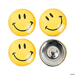 Large Smile Face Snap Beads - 17mm
