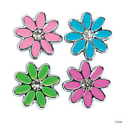 Small Enamel Flower Slide Charms