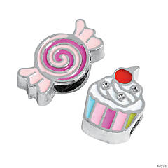 Small Enamel Candy & Cupcake Slide Charms