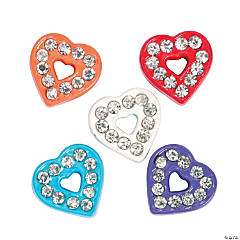 Small Colorful Hearts Slide Charms