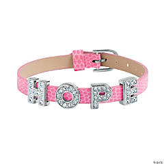 Adjustable Small Hope Slide Charm Bracelets