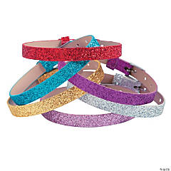 Adjustable Glitter Bracelets for Small Slide Charms