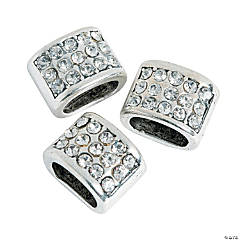Large Rhinestone Slide Charms for Bracelets