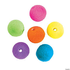 Flocked Round Beads - 12mm