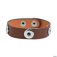 Small Brown Snap Bracelets