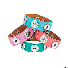 Large Bright Snap Bracelets