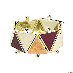 Triangle Wine & Tan Bracelet Craft Kit
