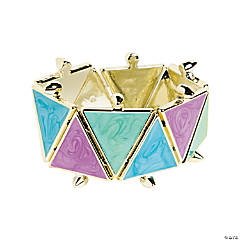 Triangle Purple, Green & Blue Bracelet Craft Kit