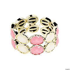 Oval Pink & White Bracelet Craft Kit