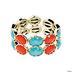 Oval Blue & Red Bracelet Craft Kit