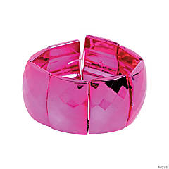Rectangle Metallic Pink Bracelet Craft Kit