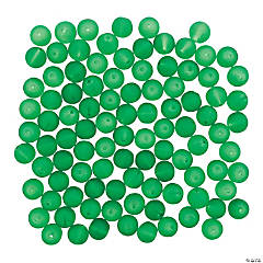 Green Frosted Beads