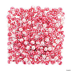 Pink Light & Dark Pearl Beads - 8mm